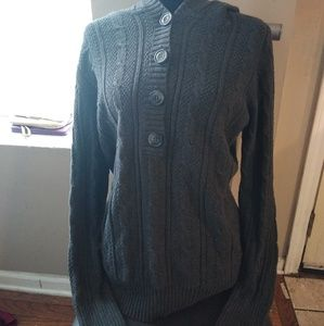 Old Navy Tops - Cable Knit Hooded Sweater